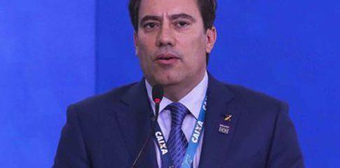 O Presidente da Caixa Econômica Federal, Pedro Guimarães, participa da cerimônia de Lançamento do IPCA para Crédito Imobiliário